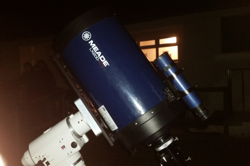 One of the telescopes viewing the Andromeda Galaxy