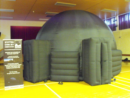 The Planetarium in the school hall.