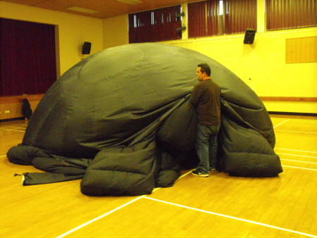 Deflating the dome at the end of the day.